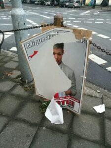 kaputtes Plakat